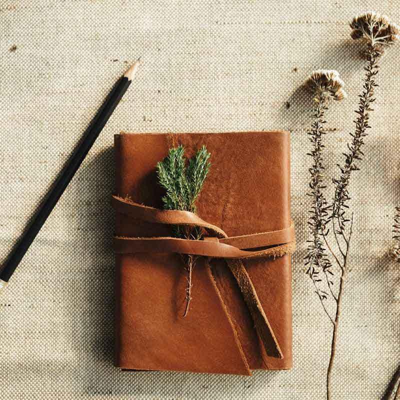 beautiful leather bound journal